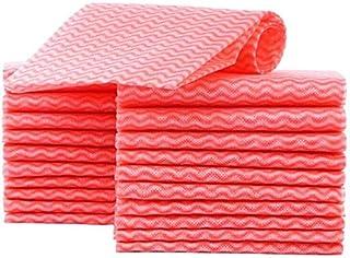 KMAKII カウンタークロス 不織布ふきん 雑巾 台拭き、吸水性が良い 乾燥が速いので 繰り返し使える雑巾 約33cmx60cm 大きい寸法60枚入り レッド…