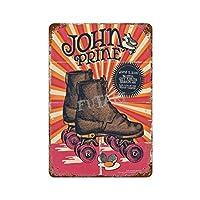 ジョン・プライン面白いポスター さびた錫のサインヴィンテージアルミニウムプラークアートポスター装飾面白い鉄の絵の個性安全標識警告アニメゲームフィルムバースクールカフェ40cm*30