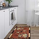 Ottomanson Sara's Kitchen runner rug, 20'X59', Dark Orange Coffee Cup
