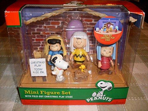 PEANUTS Weihnachten Mini Krippe Figur Set