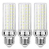 Sauglae 20W LED Mais Glühbirnen, 150W Glühlampen Äquivalent, 6000K Kaltweiß, 2000Lm, E27 Edison Schraube Glühbirnen, 3 Stück