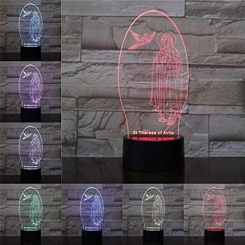DMYDMY Jésus Disciples 3D Night Light Statue Chevet Night Light Anniversaire Enfant Cadeau De Noël 7 Couleur Télécommande Touch Lampe De Table