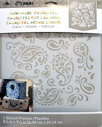 Price comparison product image FolkArt Laser Cut Painting Stencil,  Paisley Delight