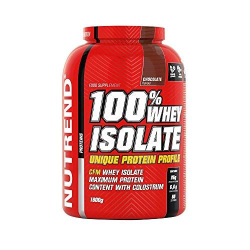Nutrend 100% Isolate whey Protein Powder Vanilla 1800g Diet Weight-loss (WPI) amino acids (BCAA), low sugar, CFM method