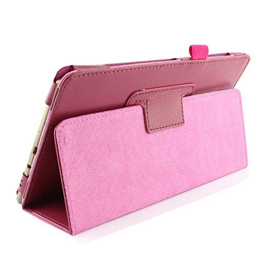 Urcover® Schutzhülle kompatibel mit Samsung Galaxy Tab S 8.4 Smart Hülle Hülle Sleeve Tasche [ Stand-Funktion ] Flip Cover, Edel Wallet, Tablet Zubehör Pink