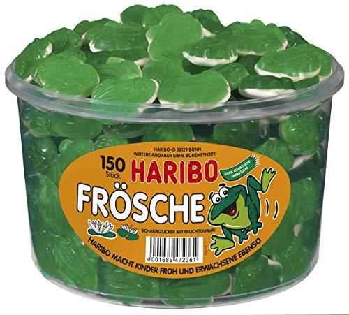 Haribo Frösche, Dose, 150 Stück, 1050g MHD 30.09.2020