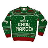I Don't Know Margo Ugly Christmas Sweater (Medium) Green