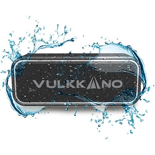 VULKKANO Blast+ Altavoz Bluetooth Potente 40W, Altavoz Portátil Impermeable IP67, Bluetooth 5.0, Sonido estéreo HiFi con Micrófono, Diseño Sólido y Ultraportátil, Soporte TF y AUX, USB-C, Carga rápida