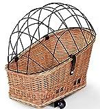 Tigana - Hundefahrradkorb für Gepäckträger aus Weide