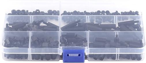 Entretoise dentretoise de colonne hexagonale en laiton M3 avec bo/îte de rangement 300 pi/èces Kit dassortiment d/écrous /à vis dentretoise en laiton M3 Gobesty Entretoises en laiton M3