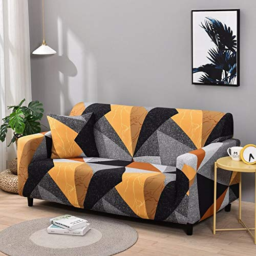WXQY Fundas de sofá elásticas geométricas Fundas de sofá