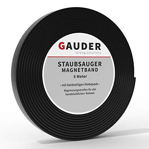 GAUDER Saugroboter Magnetband NEUE VERSION 2021 I Für Neato, Xiaomi, Miele, Vorwerk & Tesvor (5m)