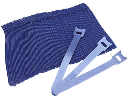 Micro Trader Lot de 100 serre-câbles Velcro réutilisables et réglables Bleu