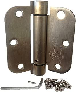 (Pack of 2) Hager Satin Nickel 3.5 Inch X 3.5 Inch Spring Door Hinges (5/8 Radius Corner) by Hager