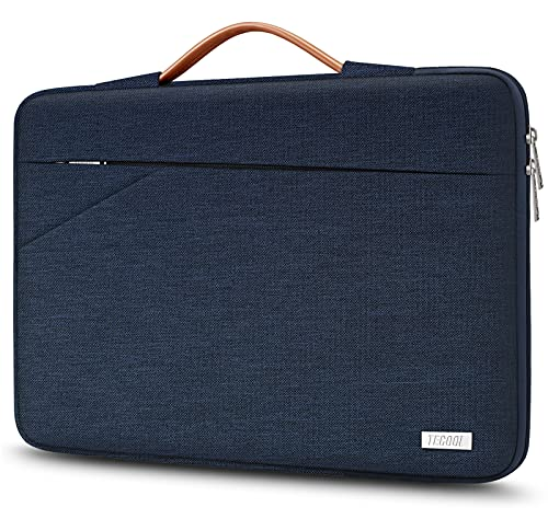TECOOL 14 Zoll Laptop Hülle Tasche Stoßfestes Tragetasche Schutzhülle mit Handgriff für 14 Zoll Lenovo Thinkpad Ideapad HP Dell Acer Asus Laptop Chromebook Wasserdicht Notebook Sleeve, Blau