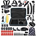 VanTop 59 in 1 Accessories Kit for GoPro Hero7 6 5 4 3+ 3 2 1, Hero Session, GoPro Fusion, AKASO, APEMAN, Lightdow, Xiaomi Yi and More, Outdoor Sports Action Camera Accessory Kit with Carrying Case from VANTOP