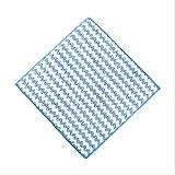 AOUP/Geschirrtücher/Reinigung Tuch/Gestreifte Blume Haushalt Küche Handtücher Absorbierenden Dicker Mikrofaser Wisch Tisch Küche Handtuch Reinigung Geschirr Waschen Tuch 25 * 25cm blau
