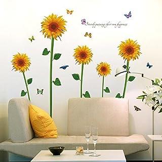 comprar comparacion Clest F & H - Adhesivo mural de vinilo extraíble con diseño de girasol