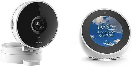 Echo Spot bianco + D-Link DCS-8010LH Telecamera Grandangolare 120°, Wi-Fi, HD, Registrazione Cloud Gratuita, Funziona con Alexa - Trova i prezzi più bassi