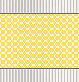 Creative Converting Mod Baby Shower Plastic Tablecover, Yellow