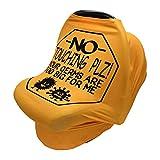 Cubierta De La Lactancia Del Bebé, CNNINHAO Nursing Cover Elástico Mantas de Lactancia Multi-funcional Funda de Enfermería de Privacidad para Bebés (naranja)