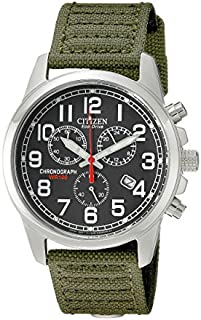 Citizen Watches Men's AT0200-05E Eco-Drive Chronograph Canvas Watch