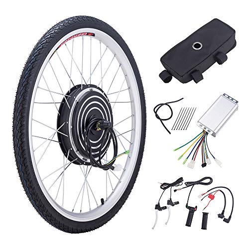 Z ZELUS 36V 500W 26' Electric Bikes Conversion Kit Front or Rear Wheel E Bike Conversion Kit Hub Motor Electric Bike Wheel Conversion Kit (Front Wheel)