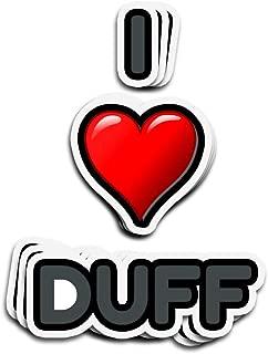 Karis Kita 3 PCs Stickers I Love Duff 3×4 Inch Die-Cut Wall Decals for Laptop Window