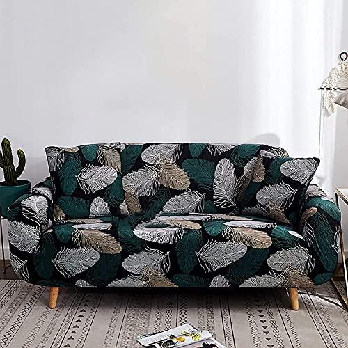 qaqy Coperchi divani coperti con Sfondo Elasticizzato, Morbido Tessuto Jacquard Lavabile in Lavabile Divano Casi di Divano Copri 1/2/3/4 piazze per Soggiorno (Color : B, Size : 4seater235~300cm)