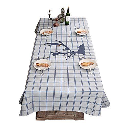 Flashing Nordic tafelkleed, eenvoudige Europese stijl, moderne Schotse ruiten, tafelkleed, rechthoekig, stof, TV-deken, handdoek