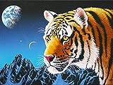 5D DIY diamante bordado Tigre artesanía Kit bordado kit diamante pintura animales diamantes de imitación arte decoración del hogar A2 40x50cm