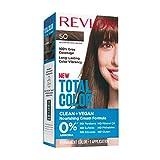 Revlon Total Color Hair Color, Clean and Vegan, 100% Gray Coverage Hair Dye, Medium Natural Brown