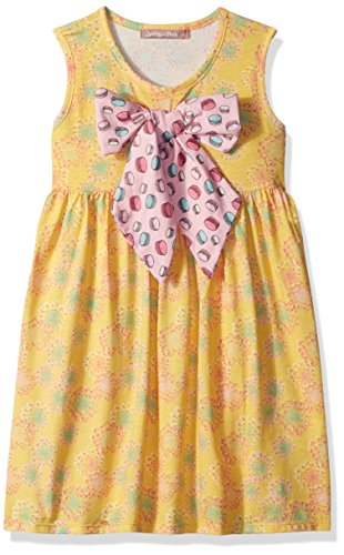 Jelly the Pug Girls' Little Spring in Paris Floral Puffy Dress, Multi, 4