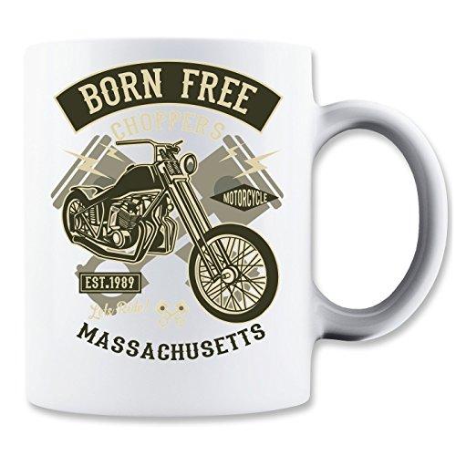 Born Free Choper Massachusetts Klassische Teetasse Kaffeetasse