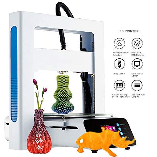 3D Printer Desktop DIY Creativity Smart Touch Color Screen Power Failure Auxiliary Leveling High Precision Removable Desktop Design Print The Model 205 * 205 * 205Mm