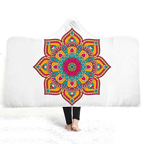 EVEYYBT Charm-Mandala-Überzug, Klimaanlage Siesta-Mikrofaser-Decke, magische Decke, Familienkleidung, Decke für Kinder, 5, 150x200cm