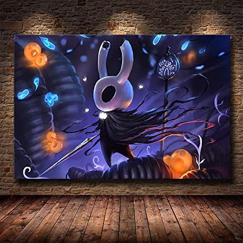 Bnnauv Puzzle 1000 Piezas Pintura de Arte Hollow Knight Game en Juguetes y Juegos Gran Ocio vacacional, Juegos interactivos familiares50x75cm(20x30inch)