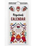 Inkdotpot Indian Bharatanatyam Dance Form Rustic Perpetual Calendar Birthday Wall Hanging Anniversary Special Event Reminder Calendar Book Journal Wall Hanging Birthday Gift Card Planner Organizer