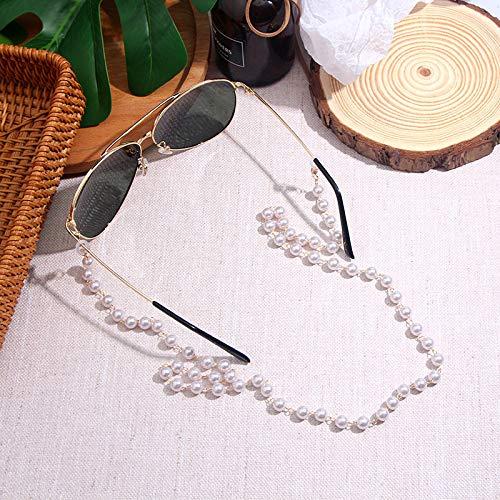 BOBO Glamour Lady Reading Pearl glazen kettingglazen ketting anti-slip glazen draad halsriem zonnebril touw cadeau