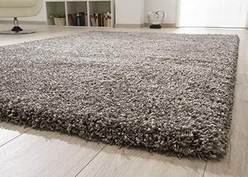 Ragolle Shaggy Hochflor Teppich Twilight | Dicker elastischer Flor für das Wohnzimmer in Grau meliert 9999, Größe: 120x170 cm