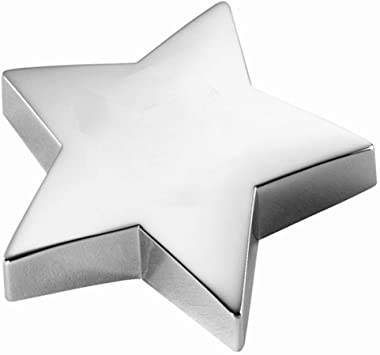 Personalized Silver Star Paperweight Engraved Free - Ships from USA