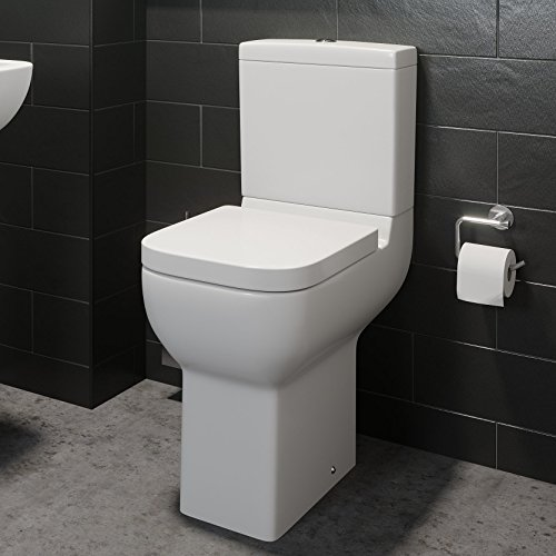 Affine Comfort Raised Height Close Coupled Toilet Bathroom WC Modern White