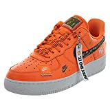 Nike Air Force 1 '07 Prm JDI, Scarpe da Fitness Uomo, Multicolore (White/White/Black/Total Orange 100), 45 EU