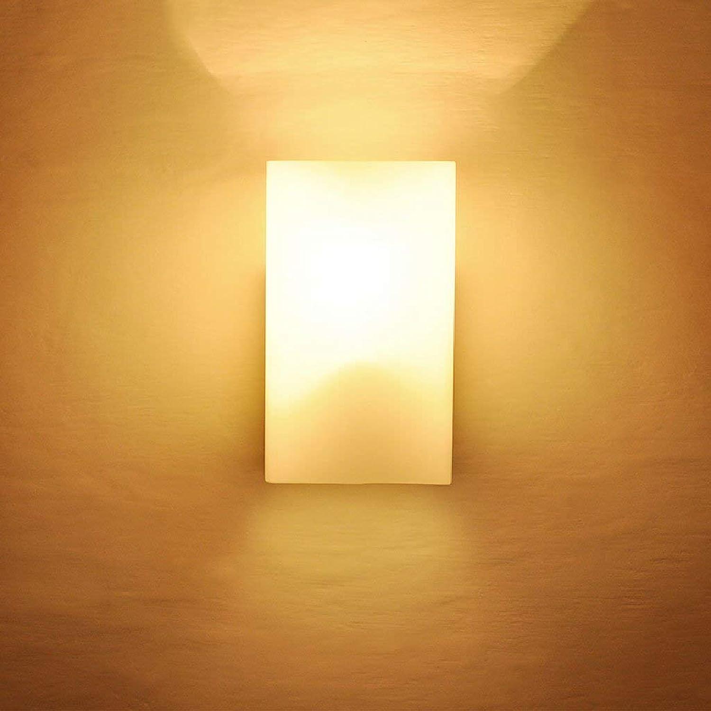 Zhang Yan ZYY  Hohe Qualitt Kreative Feste Quader Holz Glas Nachttischlampe Moderne Einfache Wohnzimmer Lichter Japanische Holz Wandleuchte Hohe  6,69 Zoll E27
