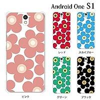 Android One S1 ケース カバー フラワー【ピンク】 アンドロイドワン Y!mobile ハードケース デザイン スマホケース スマホカバー ハード クリア