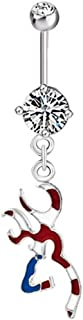 Deer Long Dangle Sexy Belly Button Rings 316L Surgical Steel