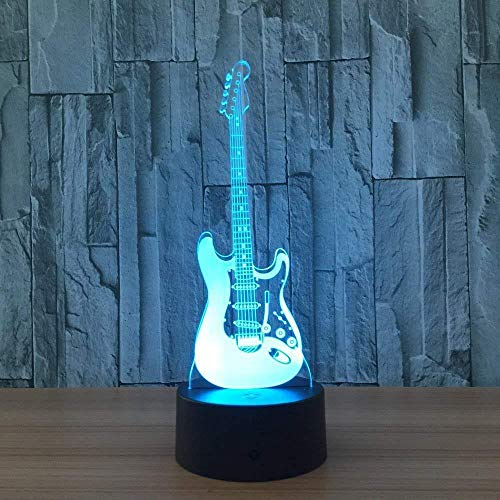 Led Symphony 3D Rendering Lamp 7 Colors Guitar Holograma Product Acao Casa Ka Family Shop Romantic Atmosphere Kids Friends Holiday Gifts