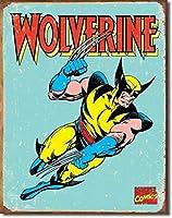 なまけ者雑貨屋 Wolverine Retro アメリカ ン 雑貨 メタル ブリキ 看板 アンティーク レトロ 壁飾 20x30cm