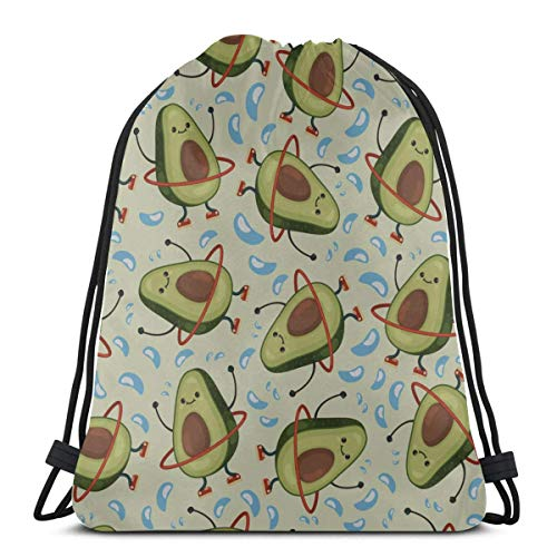 Light Ing Cute Cartoon Fun Childlike Hula Hoop A Drawstring Bag Gym Sack For Girls Gym Drawstring Bag For Men For Gym Outdoor Travel