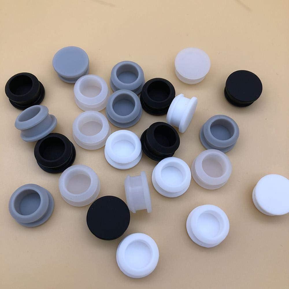 A 22 mm Yener runde Gummistopfen Silikonendkappen f/ür Rohr Reagenzglas///Silikondichtung Versiegelte O-Ringe Dichtung Dichtung Tankdichtung 0,87 Zoll Schwarze Farbe